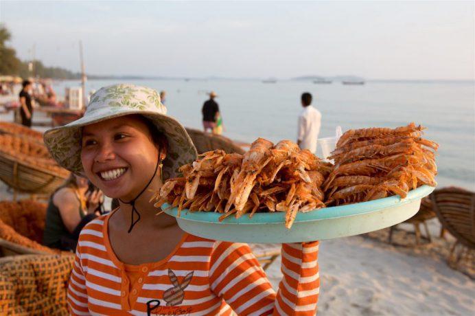 Deilig sjømat i Sihanoukville