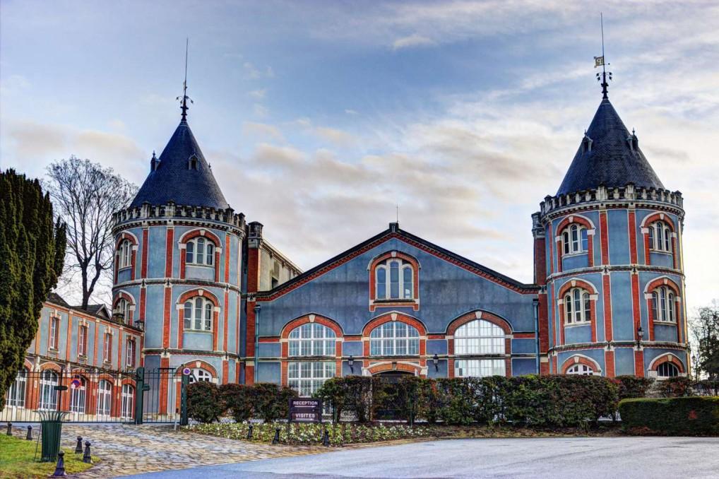 Pommery har helt klart de flotteste bygningene av champagnehusene i Reims.