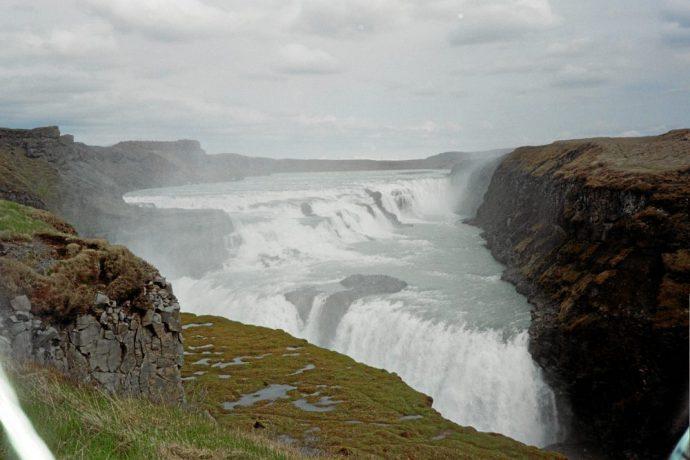 Fossefall på Island