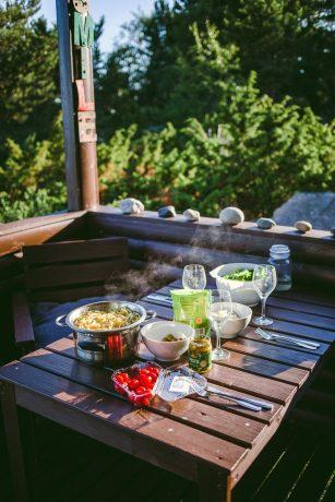 Lag mat når du vil, du har jo leid din egen øy! Foto: Äntligen Vilse.