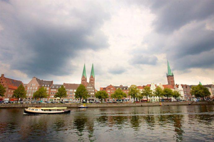 Lübeck sett fra havna
