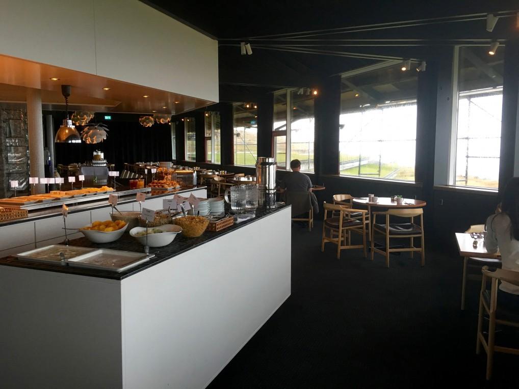 Frokostutvalget på hotellet på Færøyene.