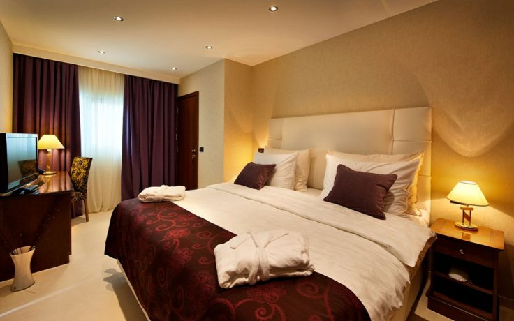 Soverom på executive suite, som også har egen stue (foto fra hotellet)