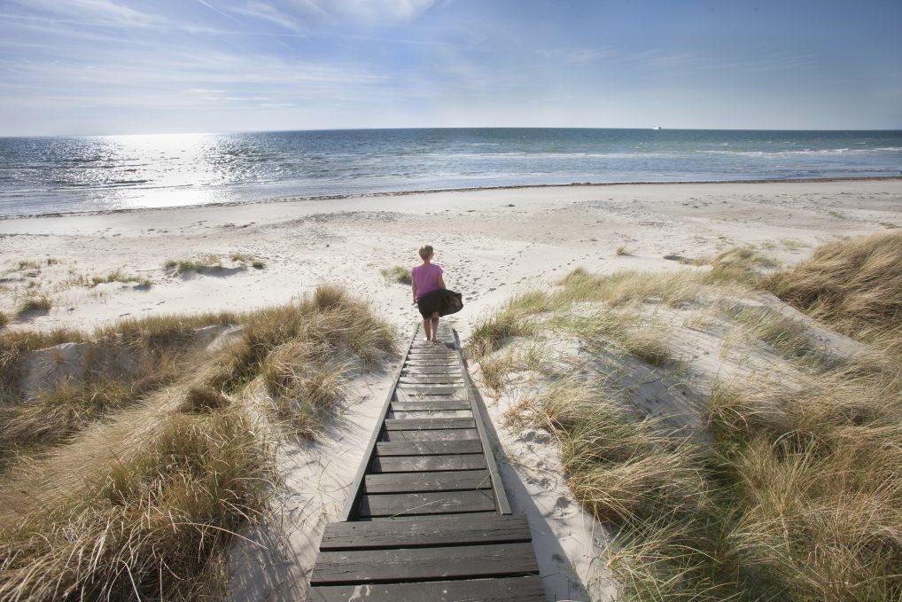 Læsø strand er en av mange hvite sandstrender på øya i Jylland.