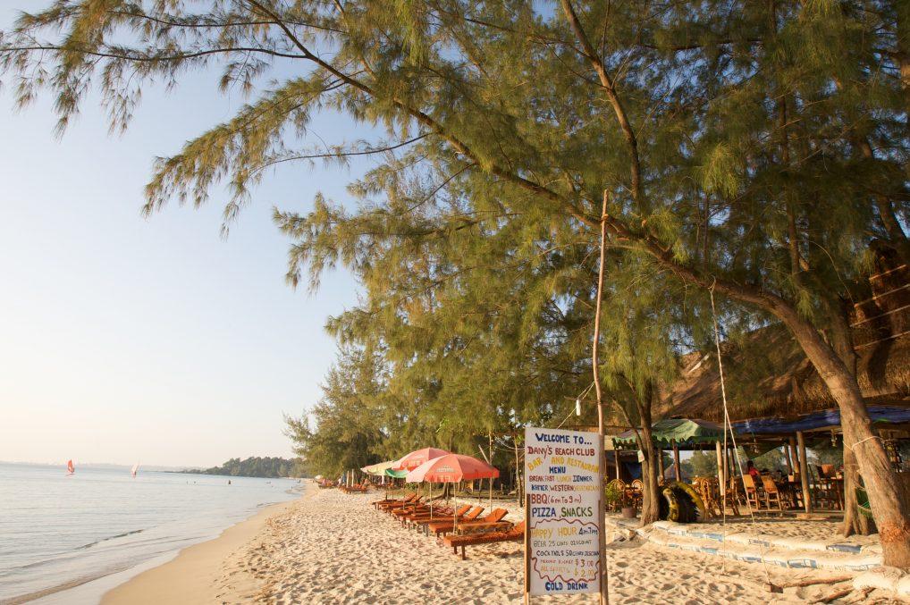 En strand i Asia er jo aldri feil. Denne er i Kambodsja.