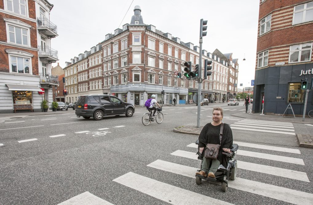 Århus har mange gågater, men må en ut i trafikken er det ok med plass.